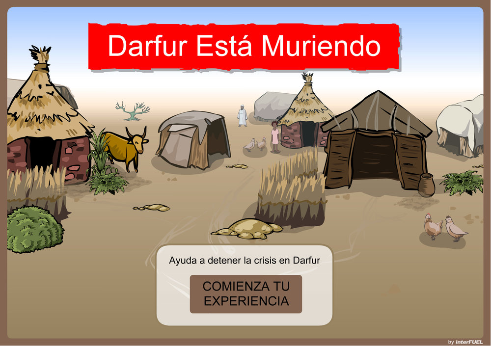 Darfur_StartScreen_Spanish